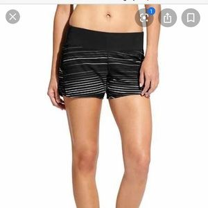 Athleta fusion stripe ready set short L